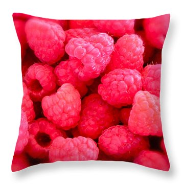 Agenda For Today ... Raspberry Jam Throw Pillow by Gwyn Newcombe