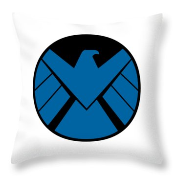 Agent Shield Throw Pillow