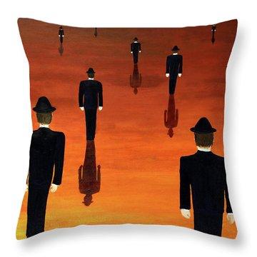 Agents Orange Throw Pillow