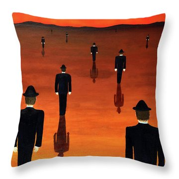 Agents Orange Throw Pillow