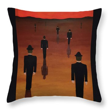 Agents Orange Throw Pillow by Thomas Blood