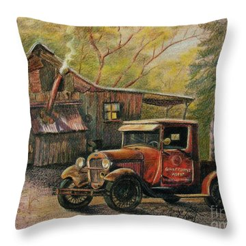 Agent's Visit Throw Pillow