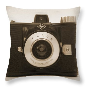Agfa Clack Camera Throw Pillow by Mike McGlothlen