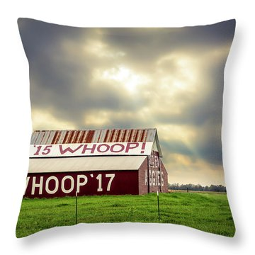Throw Pillow featuring the photograph Aggie Barn by David Morefield