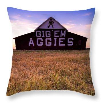 Aggie Land Throw Pillow