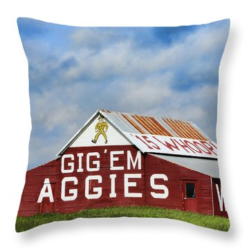 Aggie Nation Barn Throw Pillow