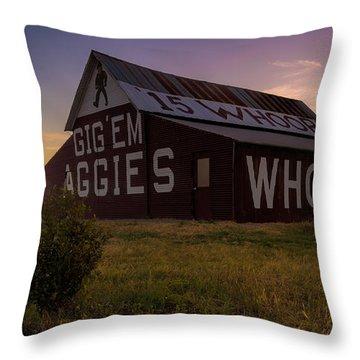 Aggie Sunset Throw Pillow