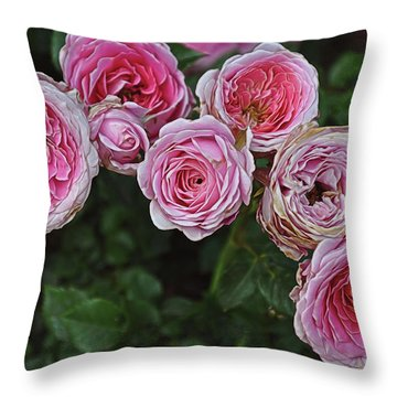 Aging Beauties Throw Pillow by Gina Savage