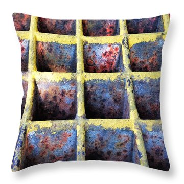 Throw Pillow featuring the photograph Aging Steel by Olivier Calas