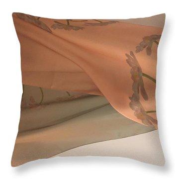 Aging Tulips Silk Throw Pillow