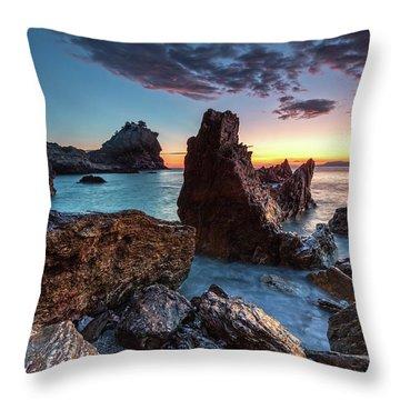 Agios Ioannis Throw Pillow by Evgeni Dinev