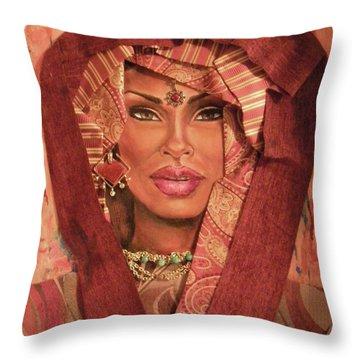 Throw Pillow featuring the painting Aglow by Alga Washington