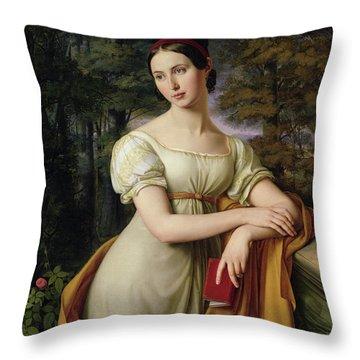 Agnes Rauch Throw Pillow by Wilhelm Schadow