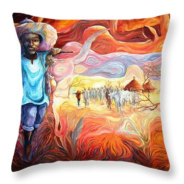 Agoi - The Sheperd Boy Throw Pillow