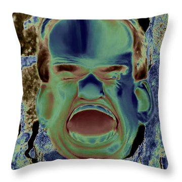 Agony And Misery Throw Pillow