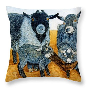 Agoudi Family Throw Pillow by Jan Amiss