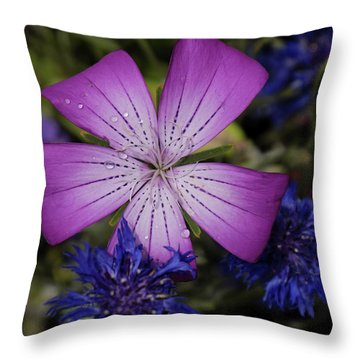 Agrostemma Throw Pillow