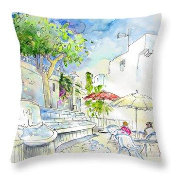 Agua Amarga 10 Throw Pillow by Miki De Goodaboom