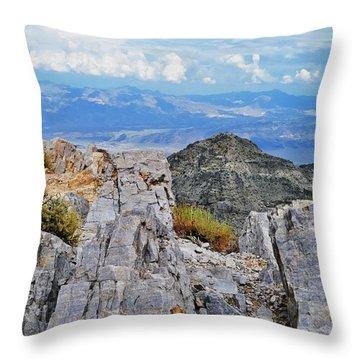 Aguereberry Point Rocks Throw Pillow