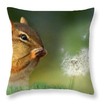 Ah-choo Throw Pillow by Lori Deiter