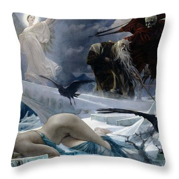 Ahasuerus At The End Of The World Throw Pillow by Adolph Hiremy Hirschl