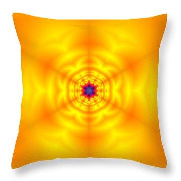 Throw Pillow featuring the digital art Ahau 6 by Robert Thalmeier