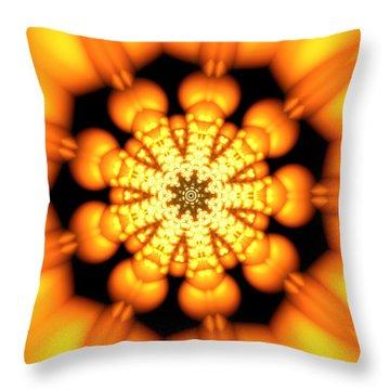 Throw Pillow featuring the digital art Ahau 9.2 by Robert Thalmeier