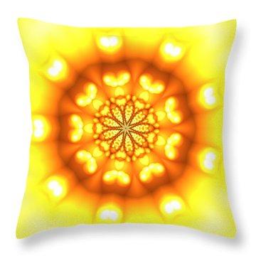 Throw Pillow featuring the digital art Ahau 9.3 by Robert Thalmeier