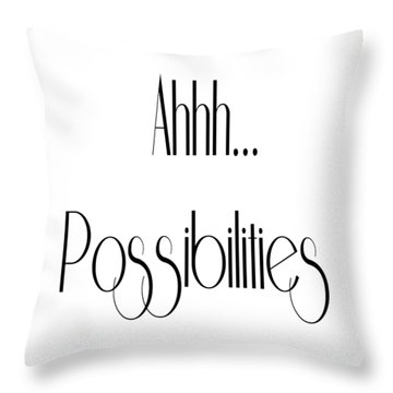 Possibility Quotes Art Prints, Inspirational Infinity Quotes Posters Throw Pillow