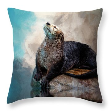 Ahhhhhhhh Throw Pillow by Cyndy Doty