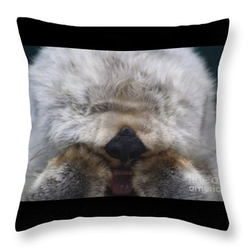 Throw Pillow featuring the photograph Ahhhhhhhh by Nick Gustafson