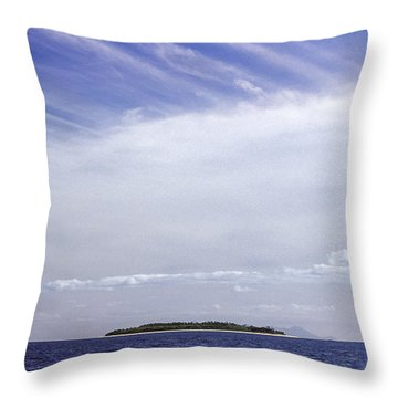 Throw Pillow featuring the photograph Ahoy Bounty Island Resort by T Brian Jones