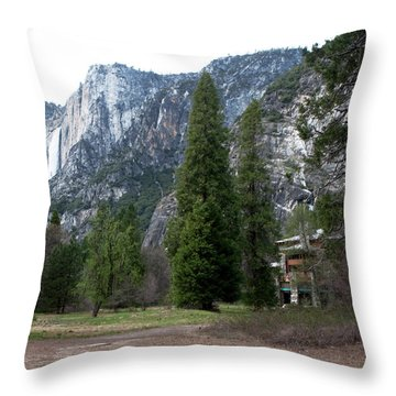 Ahwahnee Setting Throw Pillow by Lorraine Devon Wilke