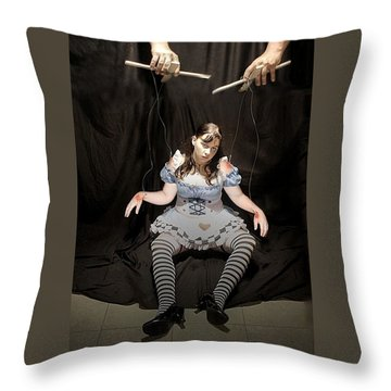 Aice On Strings Throw Pillow by Matt Nelson