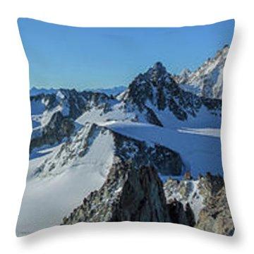Tour Du Mont Blanc Throw Pillows