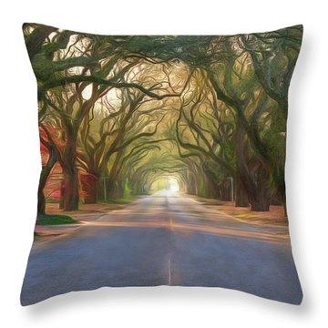 Aiken South Boundary Avenue Throw Pillow