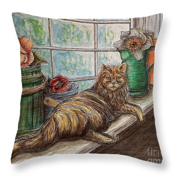 Ain't Misbehavin'... Throw Pillow