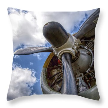 Aiplane Prop Engine Throw Pillow