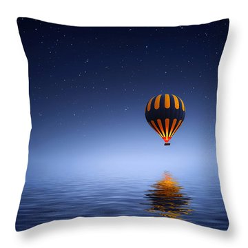 Air Ballon Throw Pillow by Bess Hamiti
