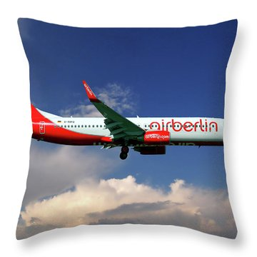 Air Berlin Boeing 737-800 Throw Pillow