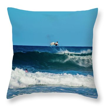 Air Bourne Throw Pillow