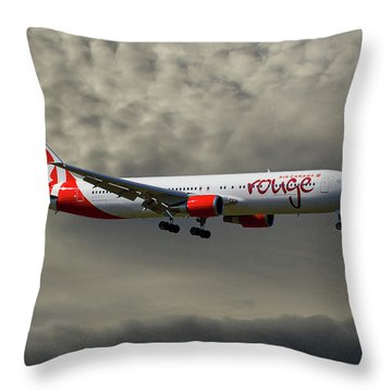 Air Canada Rouge Boeing 767-35h Throw Pillow