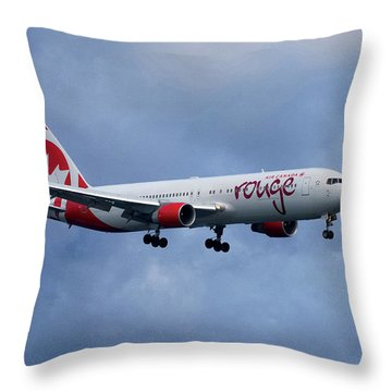 Air Canada Rouge Boeing 767 Throw Pillow