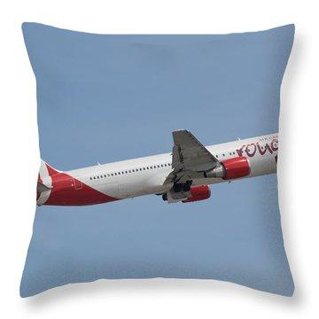 Air Canada Rouge Throw Pillow