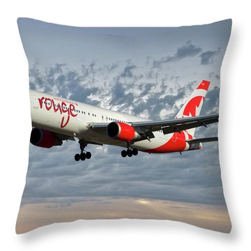 Air Canada Rouge Boeing 767-333 113 Throw Pillow