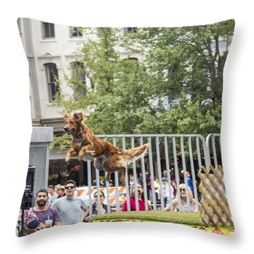 Air Dog 3 Throw Pillow