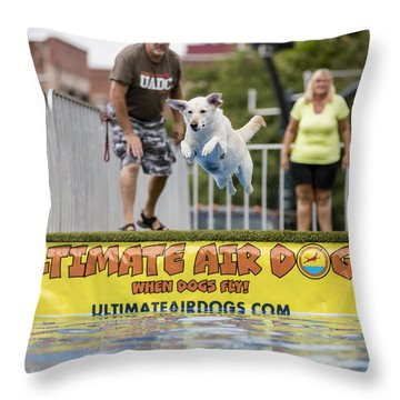 Air Dog 4 Throw Pillow