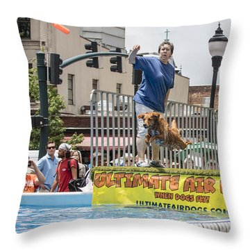 Air Dog 6 Throw Pillow