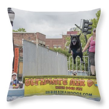 Air Dog 9 Throw Pillow