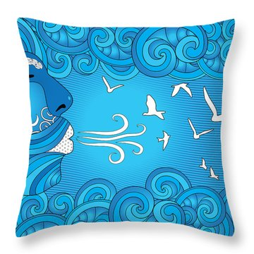 Air Element Throw Pillow by Serena King